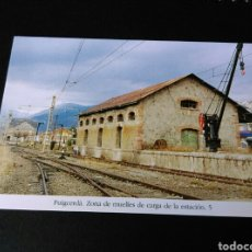 Postales: HISTORIA FERROCARRILES GERONA PUIGCERDÀ ZONA DE MUELLES DE CARGA DE LA ESTACIÓN 5. Lote 191355941