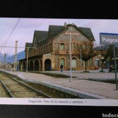 Postales: HISTORIA FERROCARRILES GERONA PUIGCERDÀ VISTA DE LA ESTACIÓN Y ANDENES 7. Lote 191356327