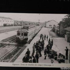 Postales: HISTORIA FERROCARRILES GERONA FIGUERES ZONA DE MUELLES DE CARGA Y DESCARGA 2. Lote 191360451