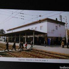 Postales: HISTORIA FERROCARRILES GERONA FIGUERES ESTACIÓN Y ZONA DE PEAJE 3. Lote 191360596