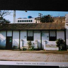 Postales: HISTORIA FERROCARRILES GERONA FIGUERES ESTACIÓN ZONA DE RETRETES 5. Lote 191360790
