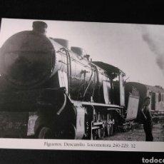 Postales: HISTORIA FERROCARRILES GERONA FIGUERES DESCARRILO LOCOMOTORA 240-229 12. Lote 191361805