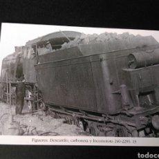 Postales: HISTORIA FERROCARRILES GERONA FIGUERES DESCARRILO CARBONERA 240-2293 13. Lote 191361935