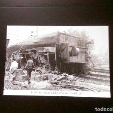 Postales: HISTORIA FERROCARRILES GERONA RIUDELLOTS DE LA SELVA. Lote 192359555