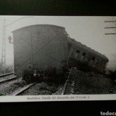 Postales: HISTORIA FERROCARRILES GERONA RIUDELLOTS DE LA SELVA 6. Lote 192359888