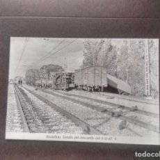 Postales: HISTORIA FERROCARRILES GERONA RIUDELLOTS DE LA SELVA 5. Lote 192359957