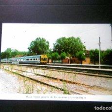 Postales: HISTORIA FERROCARRILES GERONA FLAÇÀ FLASSA ISIÓN GENERAL DE LOS ANDENES Y LA ESTACIÓN 3. Lote 192360583