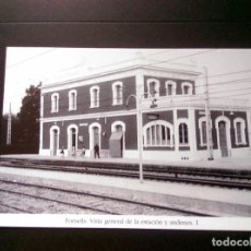 Postales: HISTORIA FERROCARRILES GERONA FORNELLS VISTA GENERAL DE LA ESTACION Y ANDENES 1. Lote 192361040