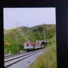 Postales: POSTAL GERONA TRENES FERROCARRILES COLERA UNIDAD TREN 092C KM 268 Nº3. Lote 192361217
