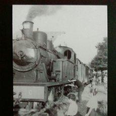 Postales: HISTORIA FERROCARRILES GERONA ANGLÈS MÁQUINA 22 A SU LLEGADA A LA ESTACIÓN Nº2. Lote 192361468