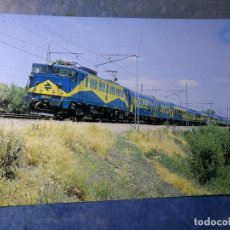 Postales: POSTAL DE RENFE. TREN RÁPIDO DE COCHES 9000. FERROCARRIL.. Lote 192507608