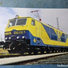 Postales: POSTAL DE RENFE. TREN. LOCOMOTORA SERIE 250. FERROCARRIL.. Lote 192507863