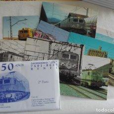 Postales: POSTAL TREN - EUROFER LOCOMOTORA RENFE 276 - SOBRE 2º (Nº 13/22 - 10 POSTALES). Lote 192766252