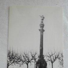 Postales: POSTAL TREN NUEVA -EUROFER 4248 - LOCOMOTORA RENFETALGO 350-001/004 - MONUMENTO COLON BARCELONA. Lote 193978052