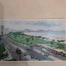 Postales: SANTOS FOTO TRAVIA AUTOBUSES SAN PAULO BRASIL. Lote 194265160
