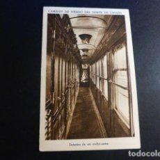 Postales: FERROCARRIL CAMINOS DE HIERRO DEL NORTE DE ESPAÑA POSTAL INTERIOR DE UN COCHE CAMA. Lote 195805207