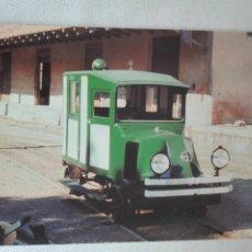 Postales: POSTAL TREN NUEVA -EUROFER 919 - F.C. SOLLER- AUTOMOVIL RENAULT ADAPTADO - MALLORCA BALEARS. Lote 292570618