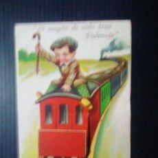 Postales: EL WAGÓN DE COLA TRAE VALENCIA.. Lote 198771140