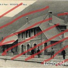 Postales: + FERROCARRIL DEL CANFRANC. ESTACION DE BEDOUS. ANTIGUA POSTAL HACIA 1920. SIN ESCRIBIR.. Lote 199266760