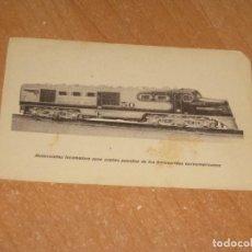 Postales: LOCOMOTORA PARA ACEITES PESADOS DE LOS FERROCARRILES NORTEAMERICANOS. Lote 199515616