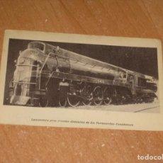 Postales: LOCOMOTORA PARA GRANDES DISTANCIAS DE LOS FERROCARRILES CANADIENSES. Lote 199515730