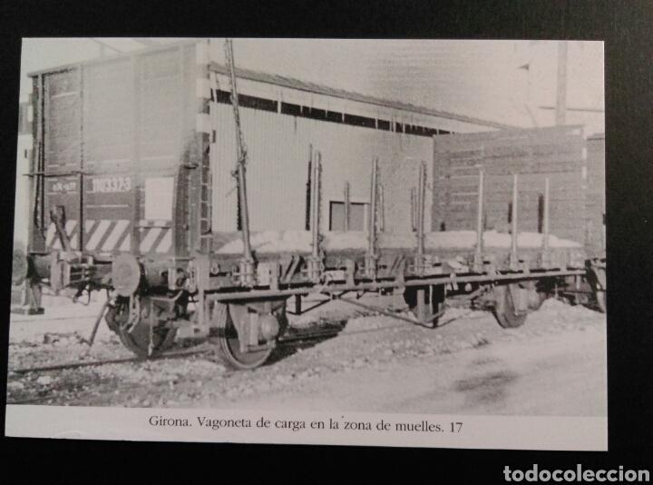 GIRONA VAGONETA DE CARGA EN LA ZONA DE MUELLES 17 VAGON (Postales - Postales Temáticas - Trenes y Tranvías)