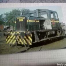 Postales: POSTAL DEL TEMA TREN FERROCARRIL - TRACTOR DIESEL CONTRUCTOR MTM EUSKALDUNA Y MACOSA ARANDA DUERO. Lote 201254448