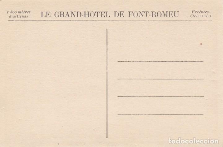Postales: postal route de villafranque a font-romeu - viaduc de la cabanasse - publicidad le grand-hotel - Foto 2 - 203433742