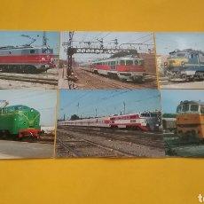 Postales: LOTE DE 6 POSTALES DE TRENES. EUROFER-AMICS DEL FERROCARIL.. Lote 203492512