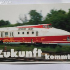 Postales: ZUKUNFT KOMMT. TREN TRAIN POSTAL POSTCARD ALEMANIA GERMANY POSTKARTE. Lote 204617223