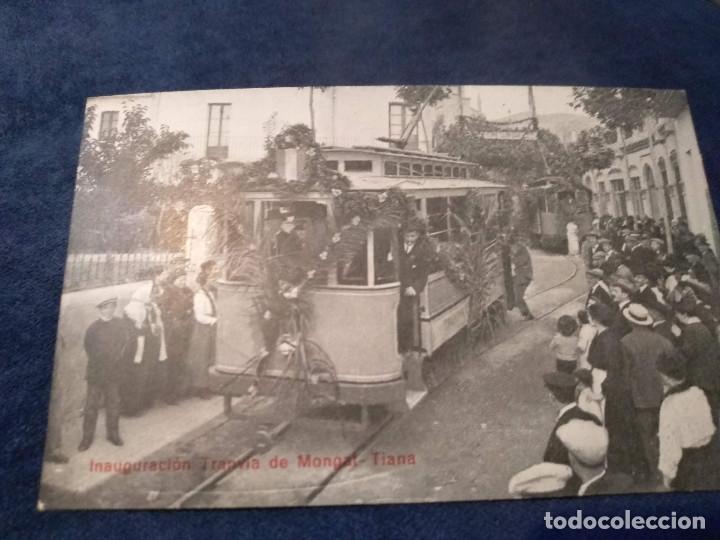 INAGURACIÓN TRANVIA DE MONGAT - TIANA - TE/TR (Postales - Postales Temáticas - Trenes y Tranvías)