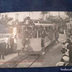 Postales: INAGURACIÓN TRANVIA DE MONGAT - TIANA - TE/TR. Lote 205804303
