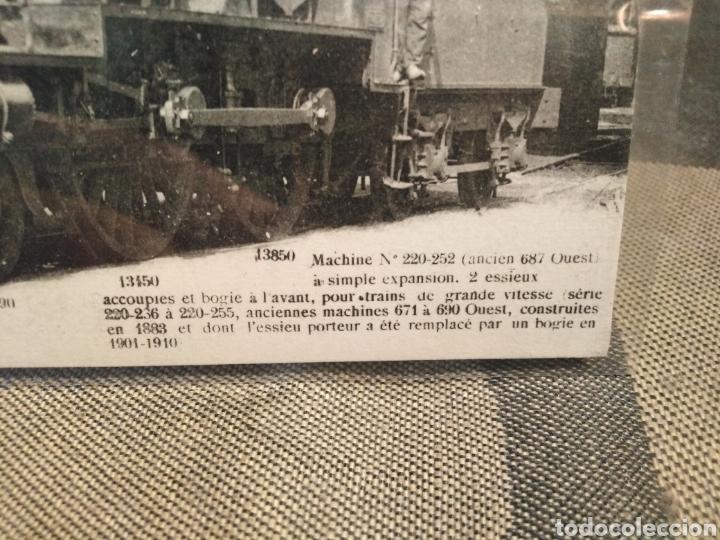 Postales: POSTAL TRENES-N°52 LES LOCOMOTIVES FRANCAISES-(ETAT)MACHINE N°220-252,EDITA FLEURY PARÍS,SIN CIRCULA - Foto 2 - 206540962