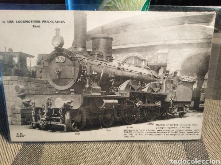 POSTAL TRENES-N°52 LES LOCOMOTIVES FRANCAISES-(ETAT)MACHINE N°220-252,EDITA FLEURY PARÍS,SIN CIRCULA (Postales - Postales Temáticas - Trenes y Tranvías)