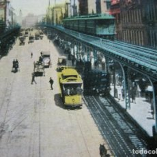 Postales: NEW YORK-BOWEY, NORTH OF GRAND STREET-FERROCARRIL-POSTAL ANTIGUA-(71.135). Lote 206937488