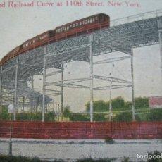 Postales: NEW YORK-ELEVATED RAILROAD CURVE AT 110TH STREET-FERROCARRIL-POSTAL ANTIGUA-(71.137). Lote 206937572
