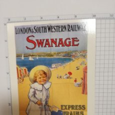 Postales: POSTAL - LONDON AND SOUTH WESTERN RAILWAY 1908 - SWANAGE. Lote 207322297
