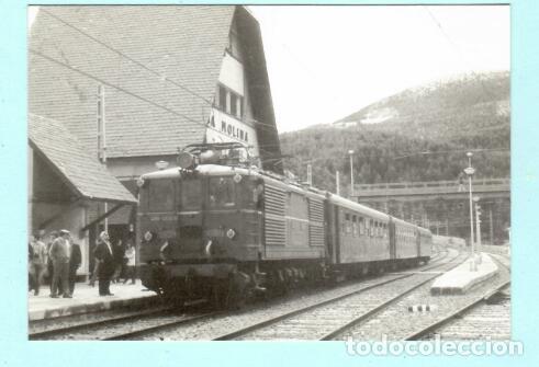 POSTAL DE LOCOMOTORA LA MOLINA 1983 Nº 4256 EDICION EUROFER AMIGOS FERROCARRIL SIN CIRCULADA (Postales - Postales Temáticas - Trenes y Tranvías)