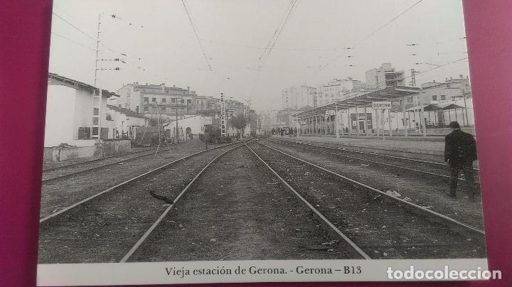 VIEJA ESTACION TREN GERONA GIRONA (Postales - Postales Temáticas - Trenes y Tranvías)