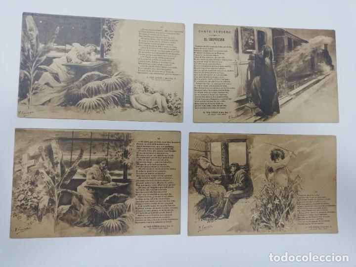Postales: EL TREN EXPRESO. SERIE II. COMPLETA. HAUSER Y MENET. POEMA EN TRES CANTOS. D. RAMON DE CAMPOAMOR - Foto 3 - 207925167