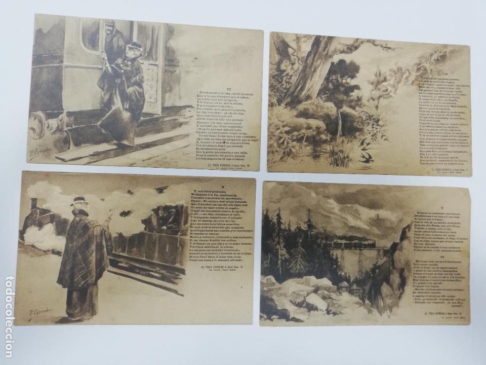Postales: EL TREN EXPRESO. SERIE II. COMPLETA. HAUSER Y MENET. POEMA EN TRES CANTOS. D. RAMON DE CAMPOAMOR - Foto 4 - 207925167