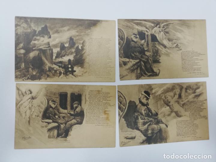 Postales: EL TREN EXPRESO. SERIE II. COMPLETA. HAUSER Y MENET. POEMA EN TRES CANTOS. D. RAMON DE CAMPOAMOR - Foto 6 - 207925167