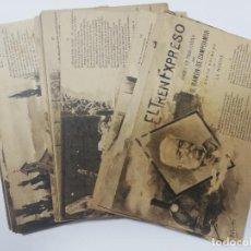 Postales: EL TREN EXPRESO. SERIE II. COMPLETA. HAUSER Y MENET. POEMA EN TRES CANTOS. D. RAMON DE CAMPOAMOR. Lote 207925167