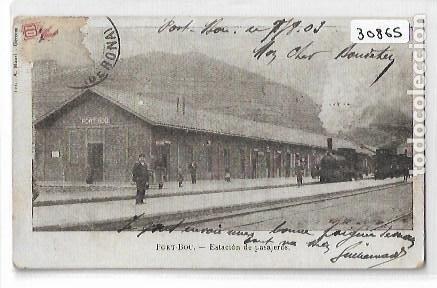 PORTBOU - ESTACIÓN DEL FERROCARRIL - A. MAURI NUM. 122 - P30865 (Postales - Postales Temáticas - Trenes y Tranvías)