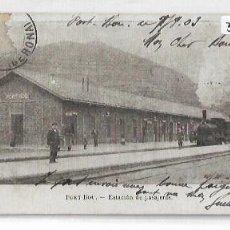 Postales: PORTBOU - ESTACIÓN DEL FERROCARRIL - A. MAURI NUM. 122 - P30865. Lote 208405121