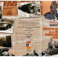 Postales: FERROCARRIL DE UTRILLAS A ZARAGOZA. TRIPTICO MUSEO UTRILLAS. Lote 209819855