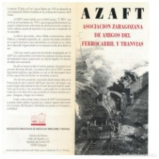 Postales: ASOCIACION AMIGOS FERROCARRIL. DIPTICO DE PRESENTACION. Lote 209820801