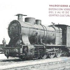 Postales: EXPOSICION FERROCARRIL VALDEFIERRO A TODO VAPOR.LOCOMOTORA RENFE EN CAMPO SEPULCRO.ZARAGOZA. Lote 209822235