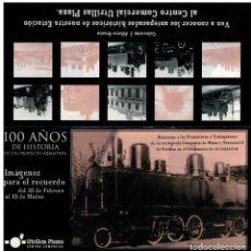 Postales: EXPOSICION FERROCARRIL UTRILLAS 100 AÑOS DE HISTORIA.ZARAGOZA 2004. Lote 209908240