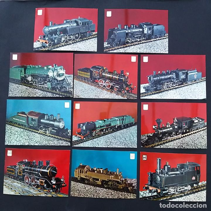 COLECCIÓN PARTICULAR MIEMBROS ASOCIACIÓN MODELISTAS FERROVIARIOS. 20 POSTALES LOCOMOTORAS (P204) (Postales - Postales Temáticas - Trenes y Tranvías)